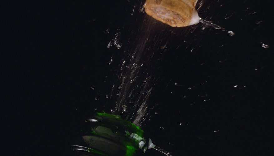 The explosive force of dissolved gas in champagne is well known.