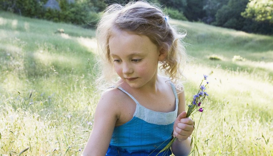 Picking wildflowers invokes a love of nature.