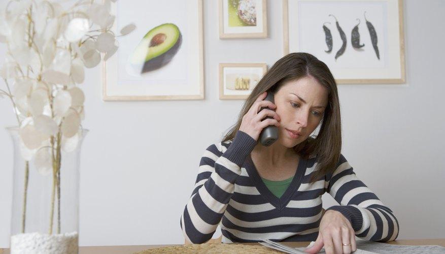 Concerned customer on phone.