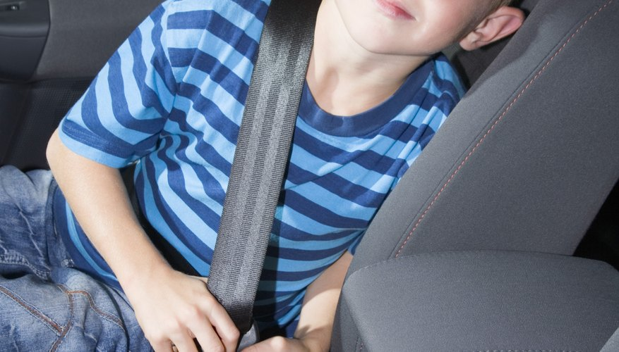 When a child is more than 12 years old or 4 feet 9 inches tall, he can use an adult seat belt.