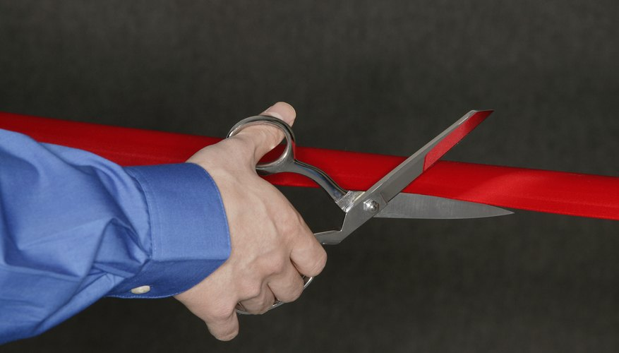 A ribbon cutting ceremony is a good opportunity to thank employees and customer.