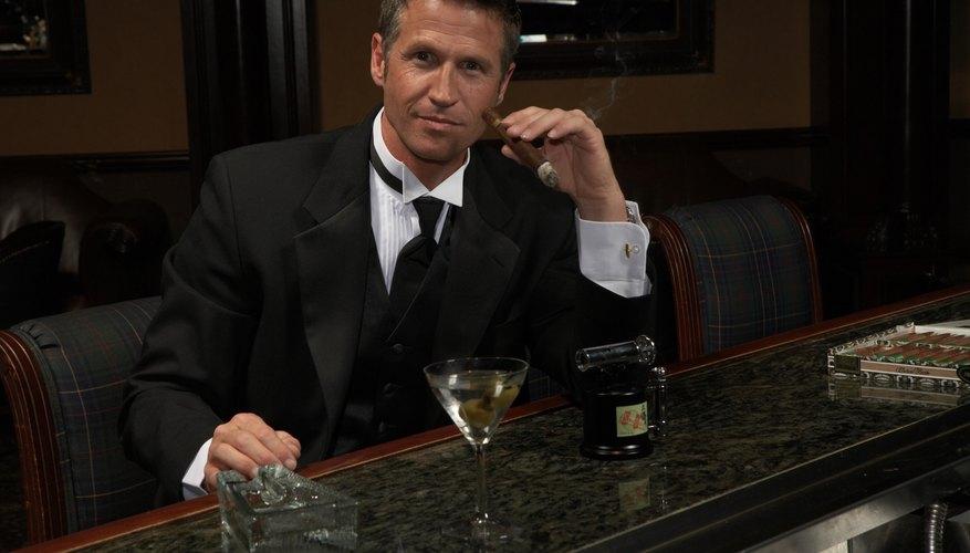 man at bar with cigar