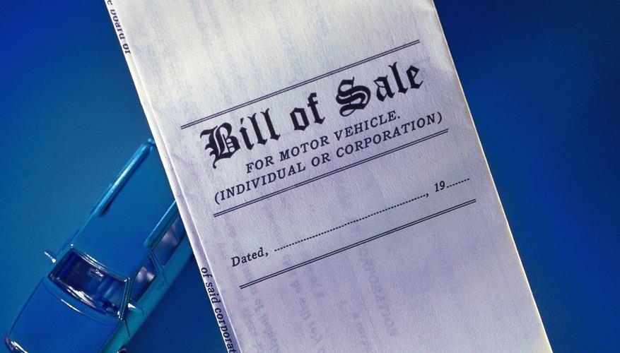 Recuerda añadir todas las inclusiones pertinentes cuando hagas una factura de venta para tu automóvil.