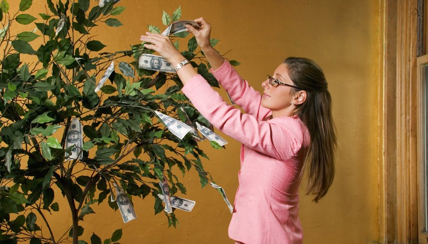 A money tree can be almost any size you like.