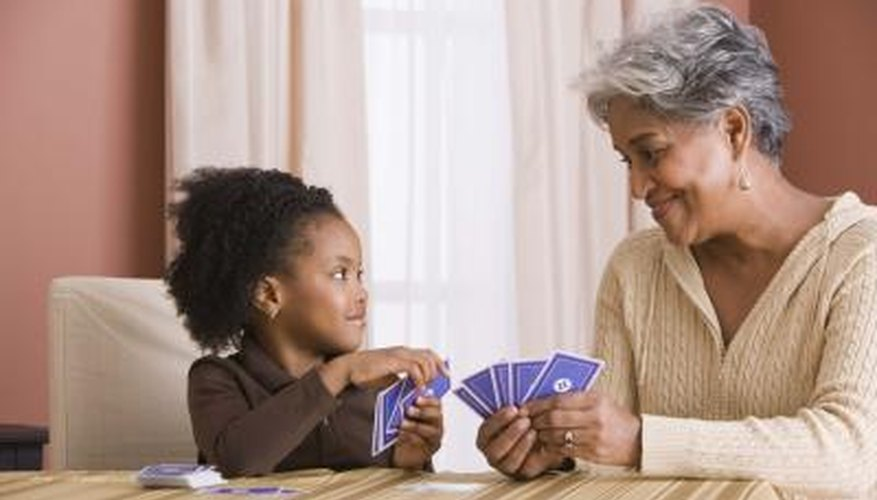 Card games can be used to teach basic math principles.