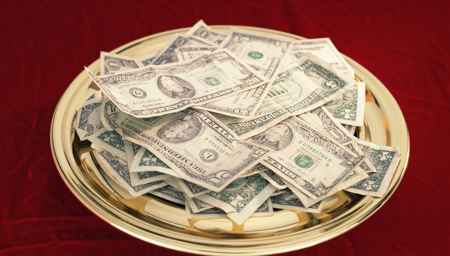 Church tithes are deductible as a charitable contribution on your annual income tax return.