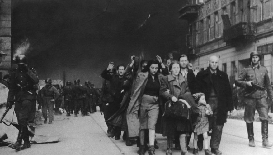 1943 destruction on Polish Ghetto during WWII