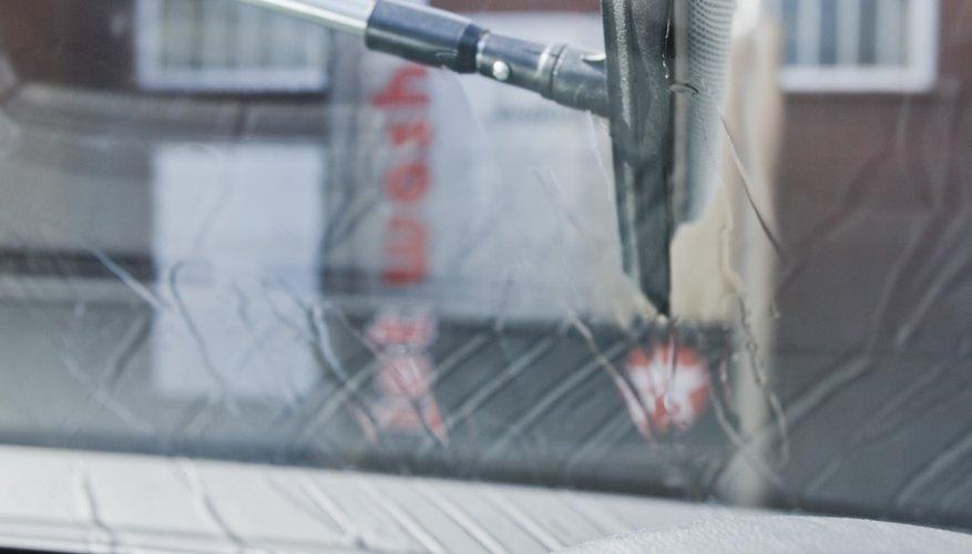 Washing car windshield