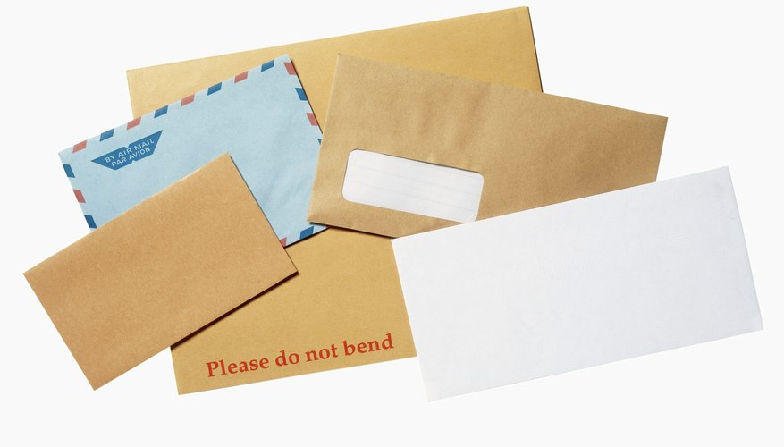 an array of envelopes from the mail