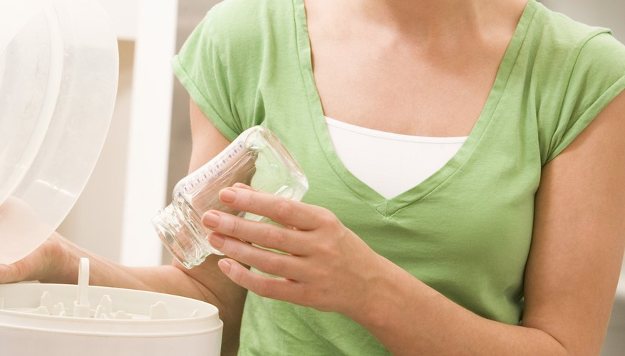 Keep your bottle sterilizer clean to avoid damaging it.
