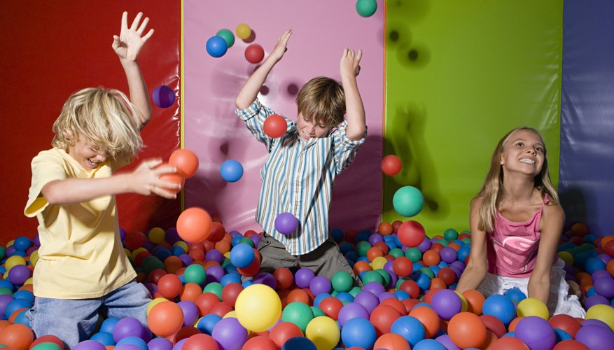 Children playing with balls