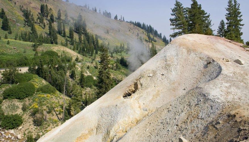 A fumarole in the Sierra Nevada Mountains.