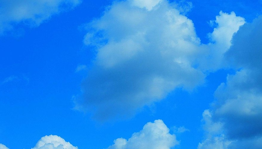 Cumulus clouds are puffy and occur in lower levels of the atmosphere.