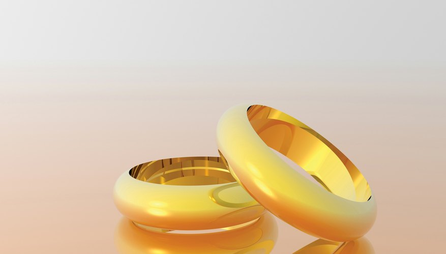 ecf49cef8442 18-carat gold is commonly used in wedding rings.