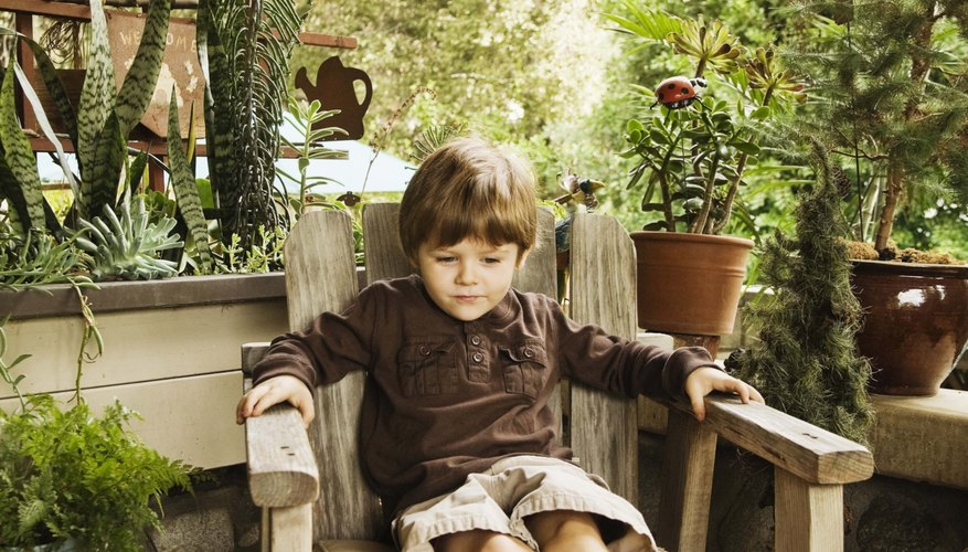 Children often don't fit in adult chairs, which could make them uncomfortable.