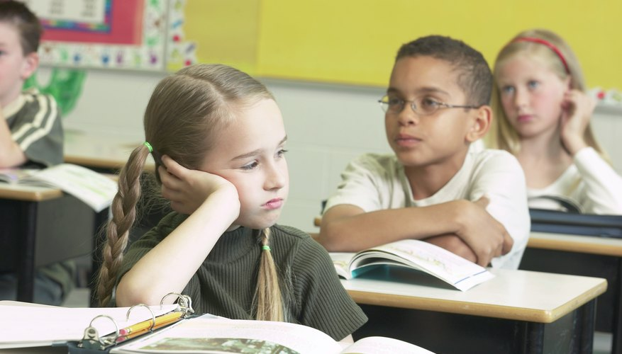 Struggle with school work can cause a child to misbehave in the classroom.