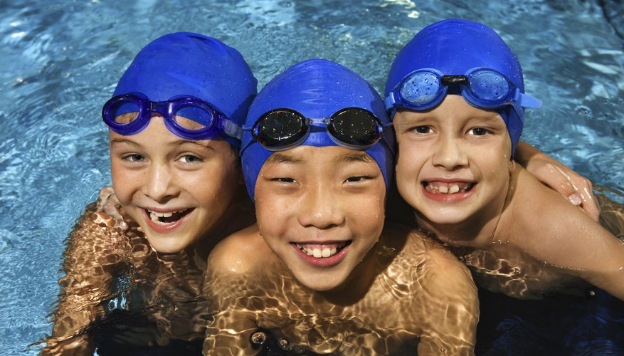 Goggles may make your child feel more comfortable in the water.
