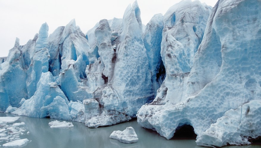 Glaciers carry huge amounts of clay and rock as they wear away the landscape.