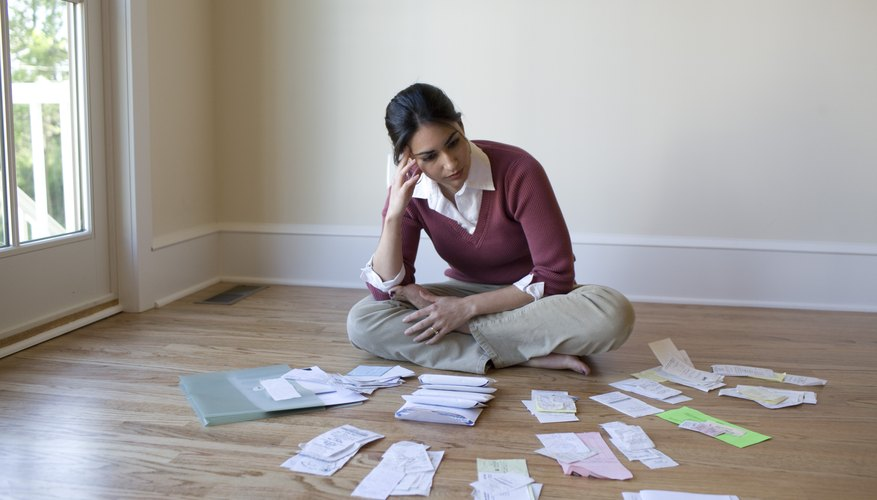 Review your bills before researching debt-consolidation loans.