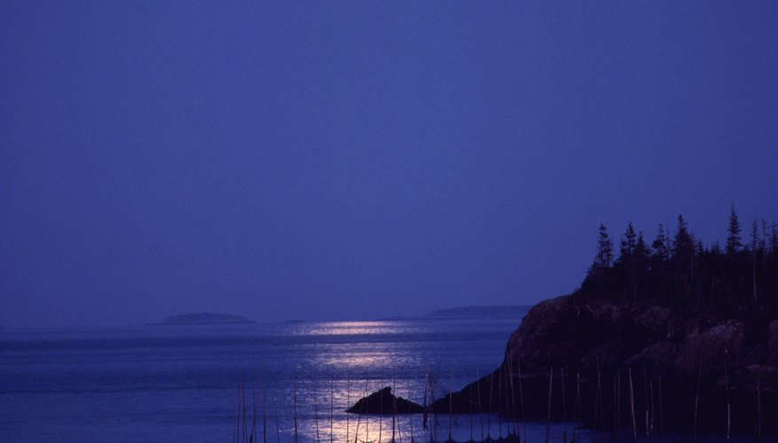 The moon's gravitational pull creates ocean tides.