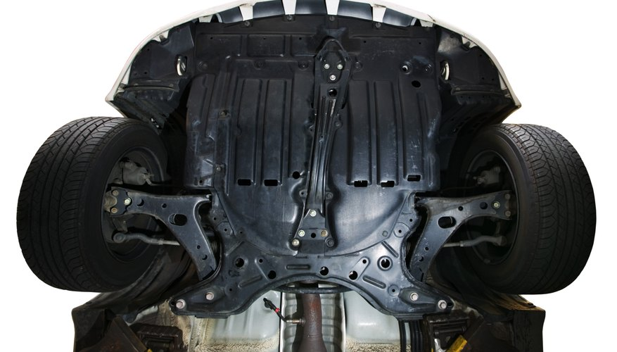 Undercarriage of car