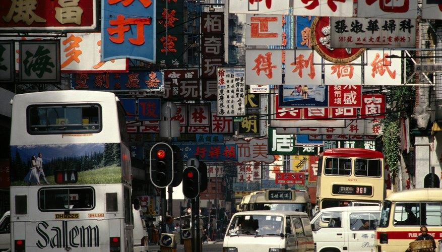 Calle concurrida en China.