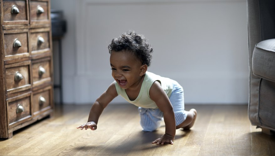 It is safe to introduce stage three foods once a child begins to crawl.