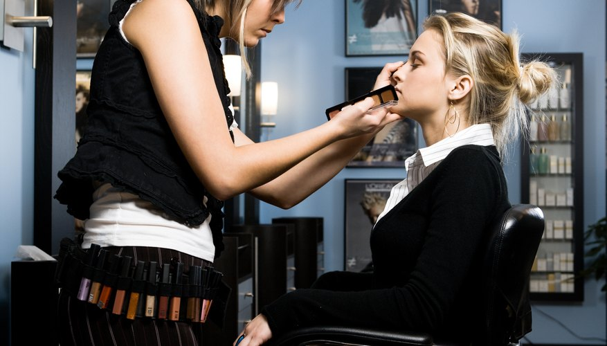 Doing makeup for commercial enterprises or for large groups will account for most of your income.
