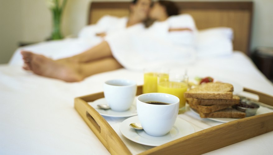 Even breakfast can be romantic if served in bed.