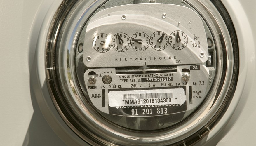 Electric meters measure the total power appliances consume.