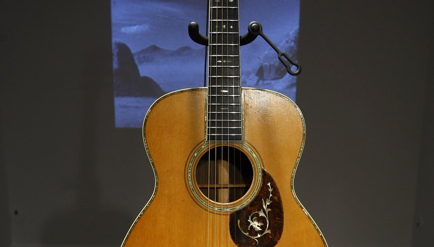 A Martin Guitar with a solid top.