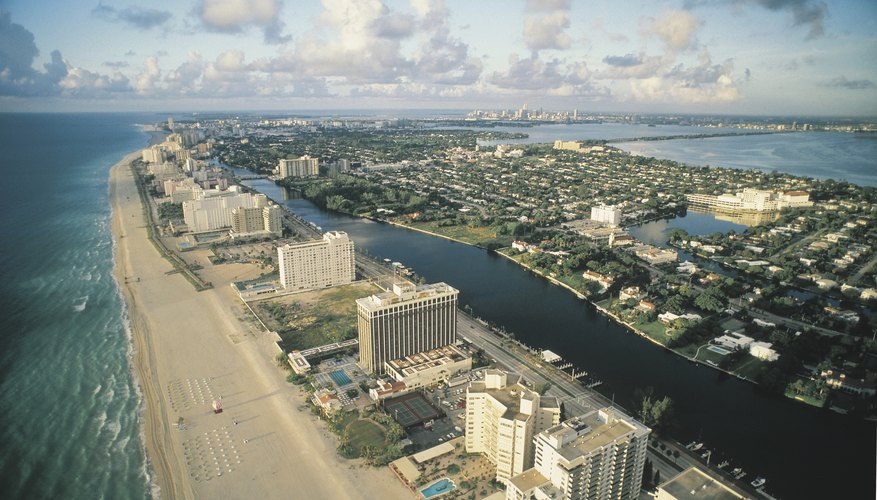 Existe alojamiento en Miami lejos del océano.