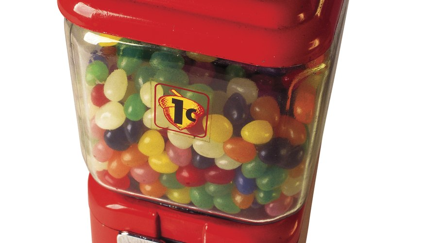 Candy machines can also dispense a handful of bouncy balls or jewelry.