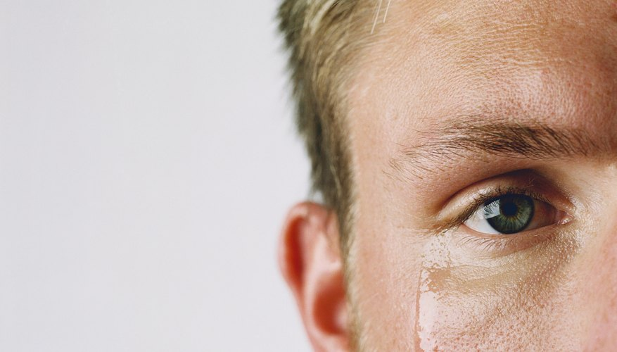 Tears normally are produced in the upper lid near the outer corner of the eye.