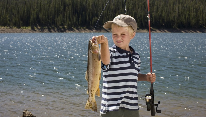 Young anglers enjoy fishing at Golden Gate Canyon State Park.