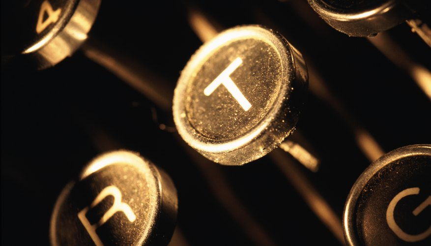 Steampunk craft projects incorporate antique typewriter keys.