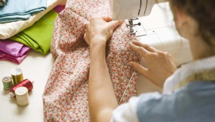 Use a sewing machine for a quick and easy blanket trim.