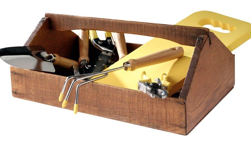 Box of garden tools