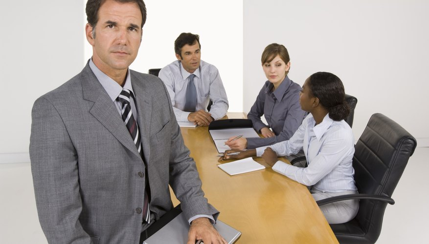 Businessman in colleagues in meeting