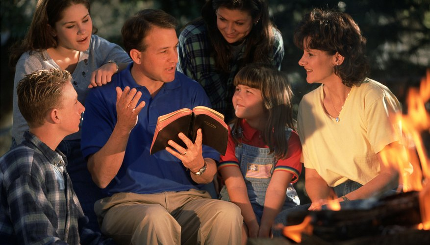 It's never too early to begin Bible lessons with your family.