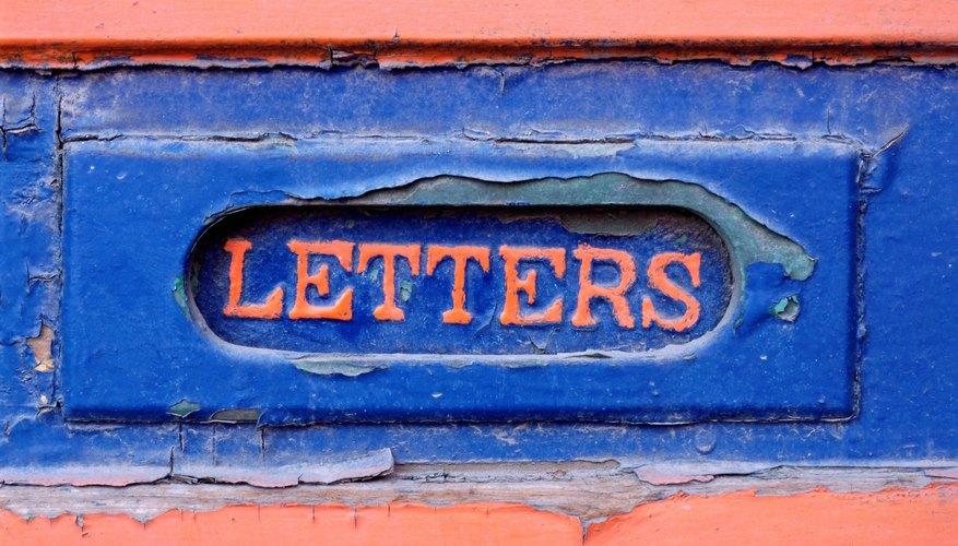 Letter box sign
