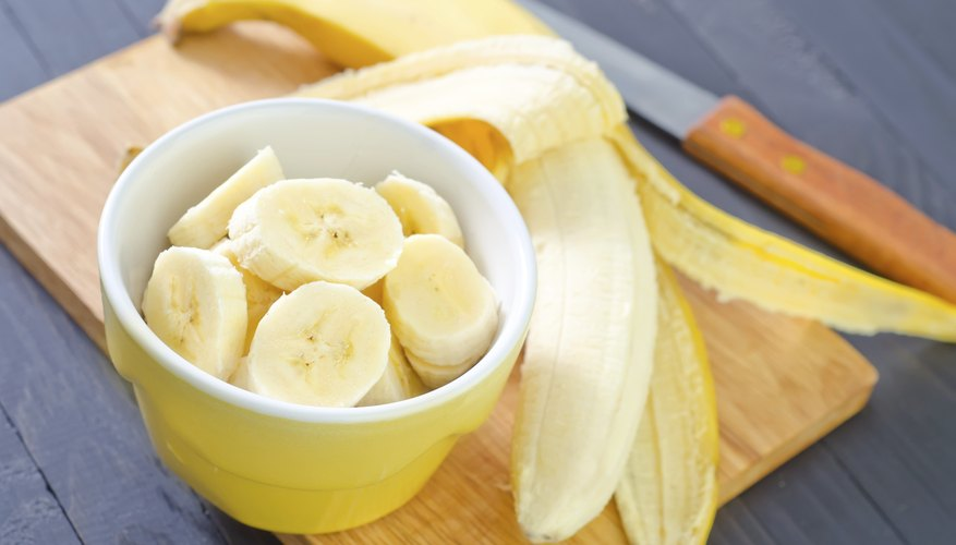 cut fruits like bananas into small pieces
