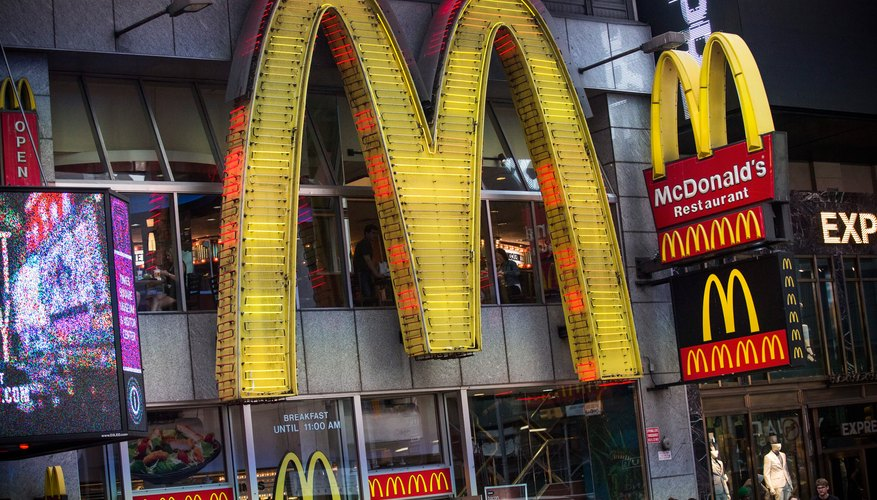 Bright, light-up McDonalds sign