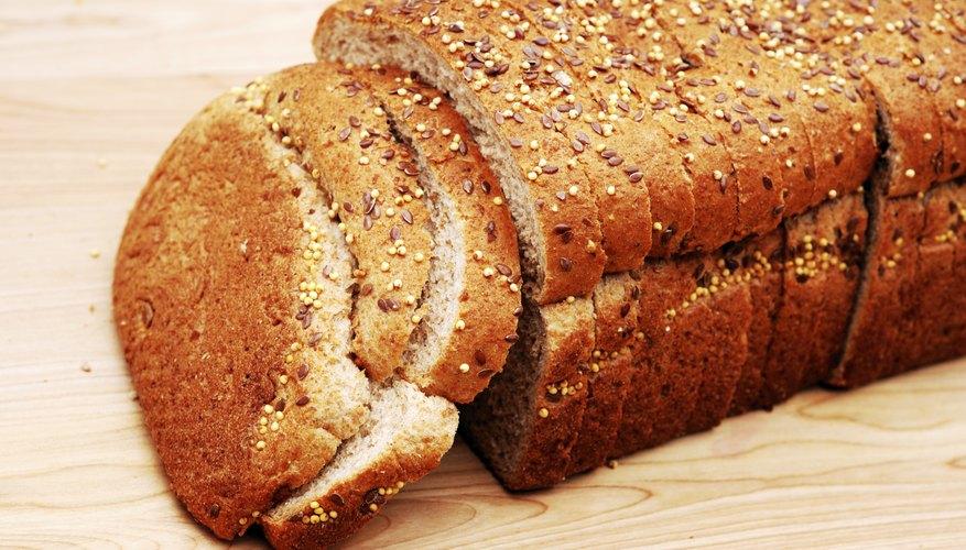 Sliced multigrain bread with flaxseed