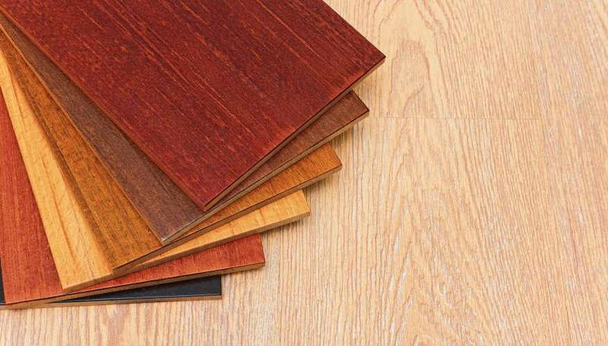 Samples of bamboo flooring