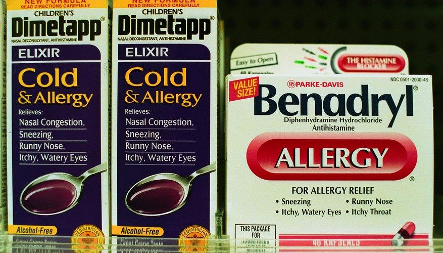 Benadryl on a store shelf