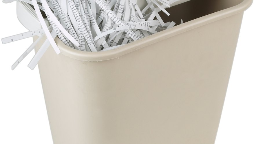 It's possible to destroy important documents without a paper shredder.