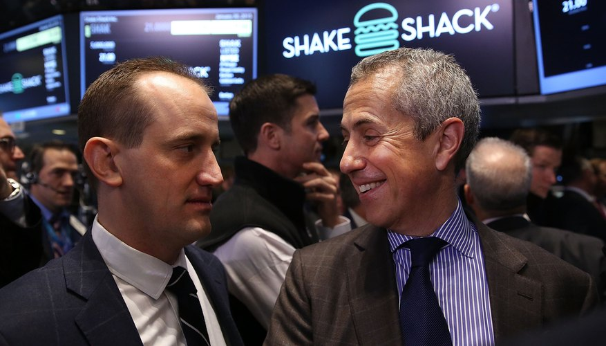 A company CEO and chairman on the floor of the New York Stock Exchange.