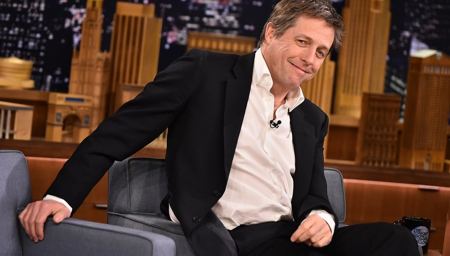 Hugh Grant is on the Tonight Show.