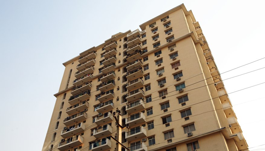 Lenders look to your credit worthiness and that of a condo building when setting down payment requirements.